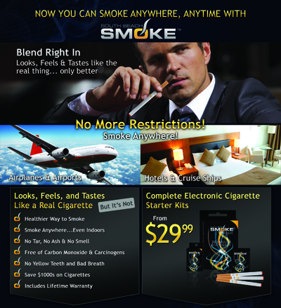 Smoke Anywhere with South Beach Smoke Electronic Cigarettes